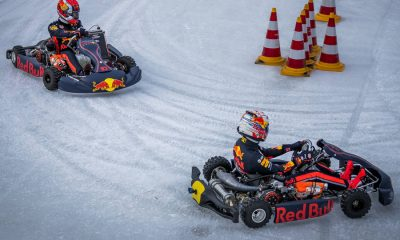max-verstappen-pierre-gasly-ice-carting-flevoland-2019