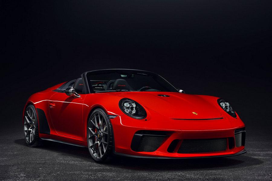 Porsche-911-speedster-2019-voorkant-rechts